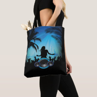 Beach Party Dancing With  Music Speakers Tote Bag