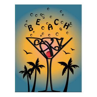 Beach Party design Postcard