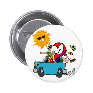 Beach Party Family Reunion Pinback Buttons