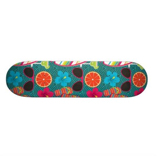 Beach Party Flip Flops Sunglasses Beach Ball Blue Skate Board Decks