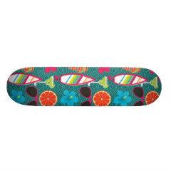 Beach Party Flip Flops Sunglasses Beach Ball Blue Skateboard Deck