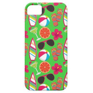 Beach Party Flip Flops Sunglasses Beach Ball Green iPhone SE/5/5s Case