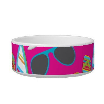 Beach Themed Beach Party Flip Flops Sunglasses Beach Ball Pink Bowl