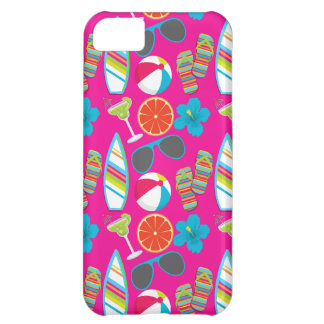 Beach Party Flip Flops Sunglasses Beach Ball Pink iPhone 5C Cover