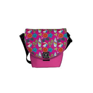 Beach Party Flip Flops Sunglasses Beach Ball Pink Courier Bags