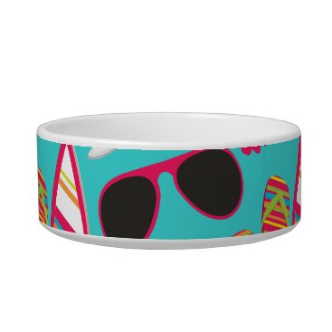 Beach Themed Beach Party Flip Flops Sunglasses Beach Ball Teal Bowl