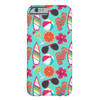 Beach Party Flip Flops Sunglasses Beach Ball Teal Barely There iPhone 6 Case