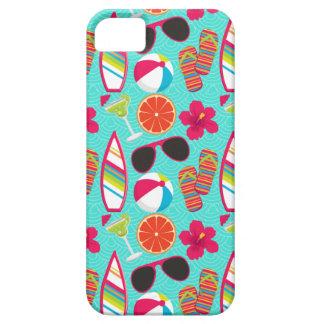 Beach Party Flip Flops Sunglasses Beach Ball Teal iPhone SE/5/5s Case