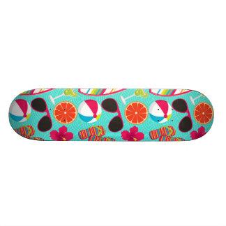 Beach Party Flip Flops Sunglasses Beach Ball Teal Skateboards