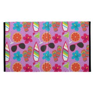 Beach Party Flip Flops Sunglasses Beachball Purple iPad Folio Cover