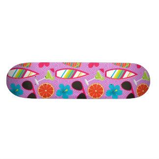 Beach Party Flip Flops Sunglasses Beachball Purple Skateboard