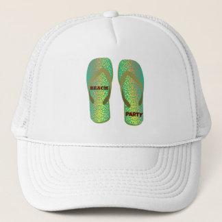 Beach Party Flip Flops Trucker Hat