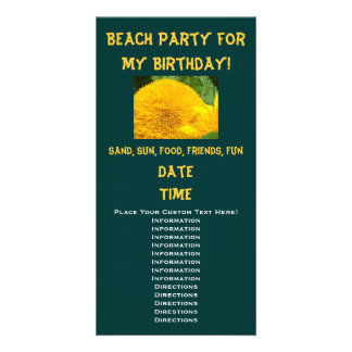 Beach Party for my Birthday! Invitations Sunflower