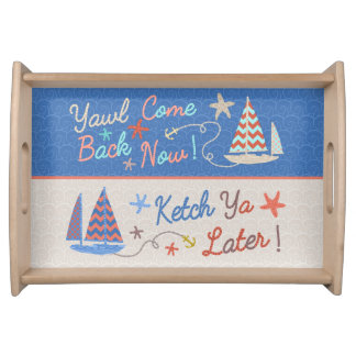 Beach Party | Funny Nautical Sailboat Pun Serving Tray