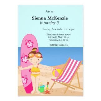 Beach Party (Girl) Card