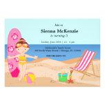 Beach Party (Girl) Custom Announcements