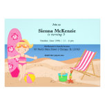 Beach Party (Girl) Personalized Invite