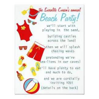 Beach Party Hooray! Card