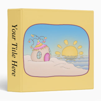 Beach Party House 3 Ring Binder