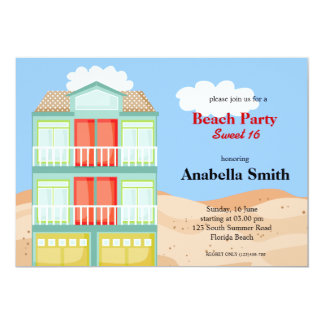 Beach Party Personalized Announcements