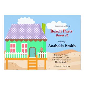 "Beach Party 5"" X 7"" Invitation Card"