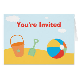 Beach Party Invitation Stationery Note Card