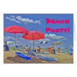 Beach Party Invitation Card