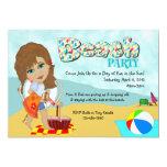 "Beach Party Invitations 5"" X 7"" Invitation Card"