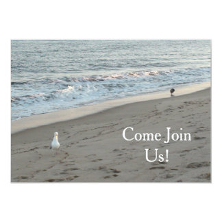 Beach Party Invittation can be Personalized Card