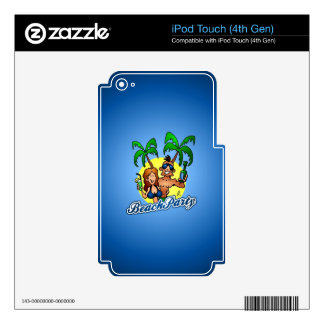 Beach Party iPod Touch 4G Decal