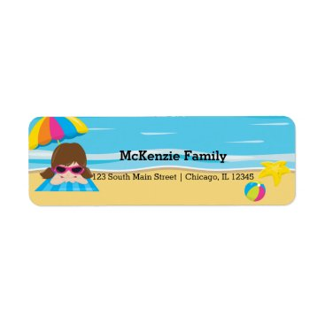 Beach Themed Beach party label