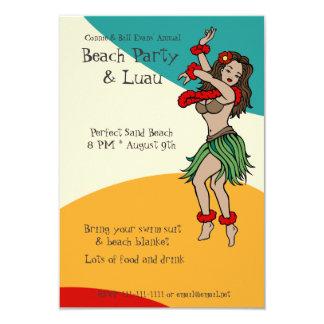 Beach Party Luau Card