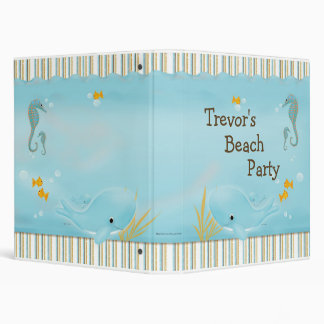 Beach Party Memory Book 3 Ring Binder