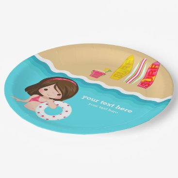 Beach Themed beach party paper plate