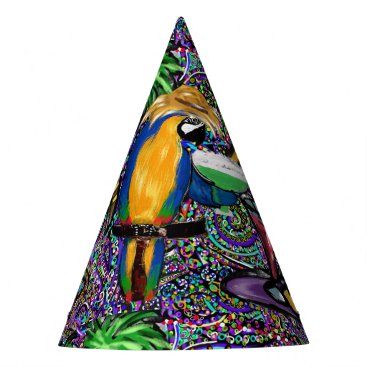 Beach Party Parrot Party Hat