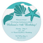 Beach Party Personalized Announcement