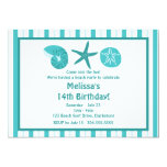 Beach Party Personalized Invitations