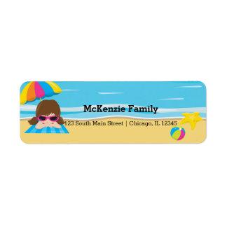 Beach party return address label