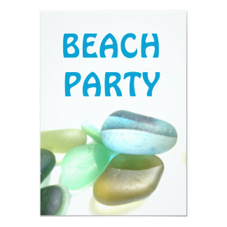Beach Party - sea glass collection 5x7 Paper Invitation Card