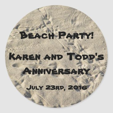 Beach Themed Beach Party Sticker