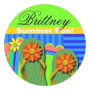 Beach Themed Beach Party Summer Fun Sticker