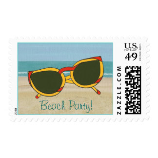 Beach Party, Sunglasses Postage Stamps