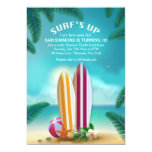 Beach Party Surfboards Invitation