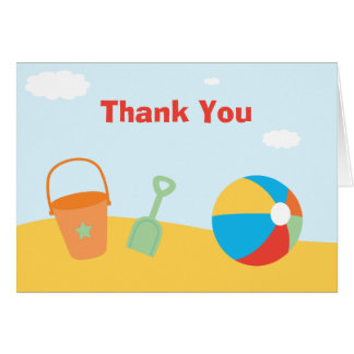 Beach Party Thank You Stationery Note Card