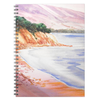 Beach, Pastel and Watercolor Notebook