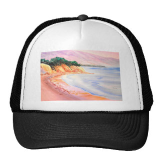Beach, Pastel and Watercolor Trucker Hat