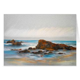 Beach, Pastel Card