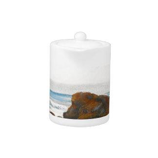 Beach, Pastel Teapot