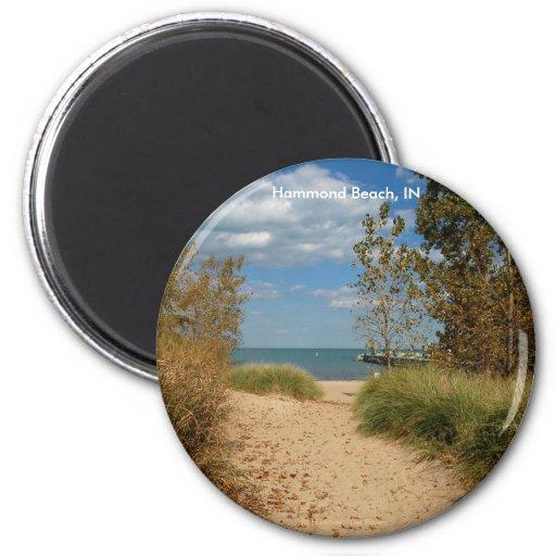 Beach Path 2 Inch Round Magnet