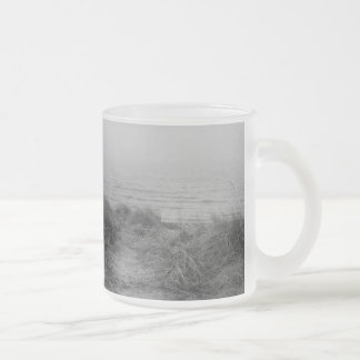 Beach path frosted glass coffee mug